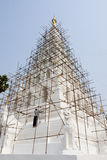 The repairing of ancient pagoda Stock Images