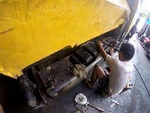 Repairing asphalt finisher Royalty Free Stock Image