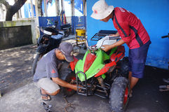 Repairing ATV Stock Photo