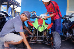 Repairing ATV Stock Photography