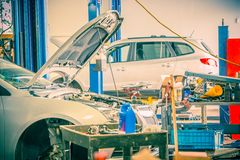Repairing in Auto Service Stock Image