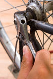 Repairing bike Royalty Free Stock Image