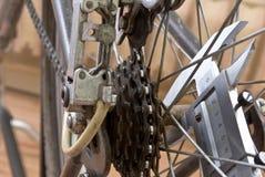 Repairing bike Stock Photo