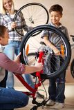 Repairing bike Royalty Free Stock Photo