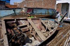 Repairing boat Royalty Free Stock Images
