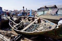 Repairing boat Stock Images