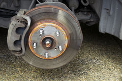Repairing Brakes on Car Royalty Free Stock Photography