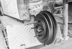 Repairing brakes  car Stock Photos