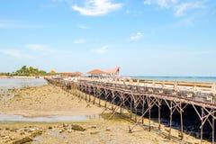 Repairing bridge. To Koh Loi in Sriracha Chon Buri, Thailand Stock Image