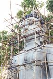 Repairing Buddha image in thailand Stock Photography