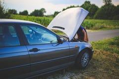 Repairing a car Stock Photo