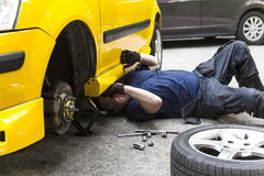 Repairing Car Royalty Free Stock Images