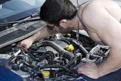 Repairing Car Stock Image