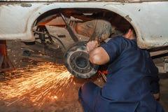 Repairing a car Royalty Free Stock Photo