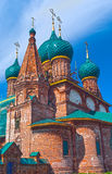 Repairing church near Yaroslavl Royalty Free Stock Photos