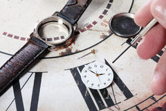 Repairing clock Royalty Free Stock Photo