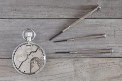 Repairing clock Royalty Free Stock Photography