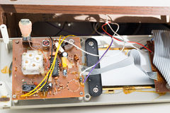 Repairing clock radio Royalty Free Stock Photography