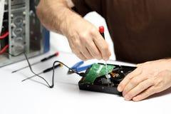 Repairing computer hardware Stock Photo