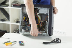 Repairing computer Royalty Free Stock Photo