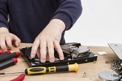 Repairing defect hard drive Royalty Free Stock Photo