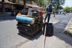 Repairing demaged roads Royalty Free Stock Photos