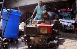 Repairing diesel engines Stock Images