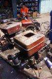 Repairing diesel engines Stock Photography