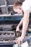 Repairing the engine Stock Photo