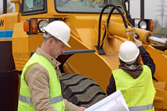 Repairing Excavator. Photo of excavator being repared Royalty Free Stock Images