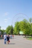 Repairing Ferris wheel royalty free stock photography