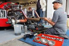 Repairing the gear box Stock Photos