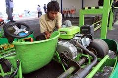 Repairing go kart Stock Images