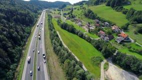 Repairing a highway traffic road stock video