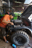 Repairing jeep Royalty Free Stock Image