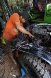 Repairing jeep Stock Image
