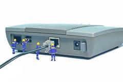 Repairing LAN internet connection Stock Images