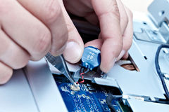 Repairing laptop royalty free stock photo