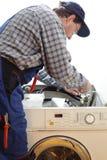 Repairing a machine Stock Image