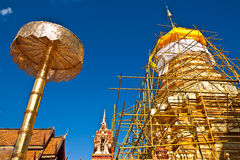 The repairing of most famous pagoda Stock Images