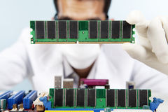 Repairing the motherboard Stock Images