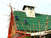 Repairing of old Buddhist church Stock Photos