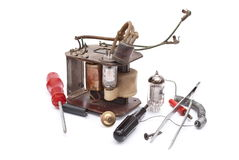 Repairing old electronics Royalty Free Stock Images