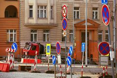Repairing Old Road Stock Image