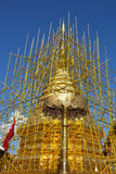 The repairing of one of most famous pagoda , Phra That Doi Suthep. Chaing Mai province,Thailand Royalty Free Stock Image