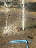 Repairing  plumbing crack Stock Images