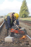 Repairing Railway Track Stock Images