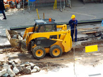 Repairing road, workers Royalty Free Stock Images