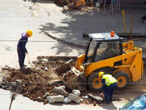 Repairing road, workers Royalty Free Stock Photo