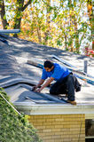 Repairing a roof Stock Image
